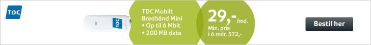 TDC mobilt bredbånd mini - 29 kr.